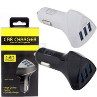 3 USB Ports Car Charger Auto power adapter for iphone 7 8 x 11 12 13 Samsung s7 s8 android phone gps mp3 with retail box
