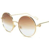 Óculos de sol oversized redondo marrom simples círculo simples lente luxo desinger verde gradiente sol óculos femininos homens tons uv400