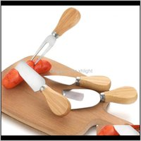 Kitchen Kitchen, Dining Bar Home & Garden Drop Delivery 2021 Cheese Tools Knife Set Oak Handle Fork Shovel Kit Graters Baking Pizza Slicer Cu