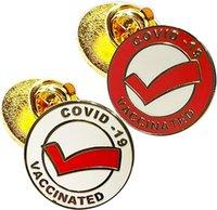 Vacinação Agulha Enamel Emblema Bage-banhado a ouro Pin-Broche Camisa Calçada Memorial-Medical Alerta de Alerta Pino Americano