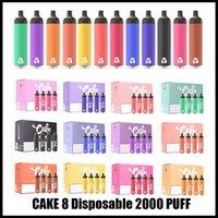 Original Cake Delta 8 Einweg-Starter Kit E Zigaretten-Gerät Full Gram 6.5ml Kapazität Pod Vape Pen 1250mAh Batterie für dickes Öl vs Bar plus Max Bang XXL 12 Farben