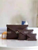 Высококачественные дизайнеры сумки сумки сумки кошельки 3 набор женские кошельки держатель карт кошельки моды хранения сумки с коробкой