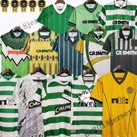 1982 84 86 Celtic # 7 Larsson 2000 2002 Retro Soccer Jerseys 80 85 89 01 03 06 07 08 91 92 92 97 97 خمر قمصان كرة القدم الكلاسيكية بعيدا الأخضر جيليسبيبي كاسكارينو