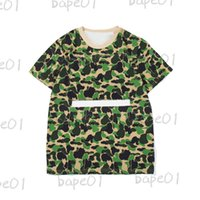 Erkek Tasarımcı Kamuflaj Desen T Gömlek Moda Çiftler Kısa Kollu Yüksek Kaliteli Pamuk Tees 3 Renk Boyutu M-2XL