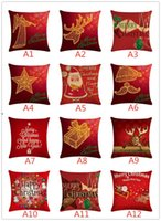 147 Styles Pillow Case Cover Christmas Cushion Covers New Linen Sofa Pillowcase Cushion Cover Xmas Gift Home OWD10648