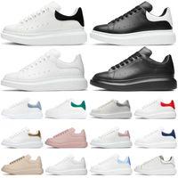 الرجال النساء منصة الأحذية فاشن رياضة متعدد الألوان عاكس الثلاثي أسود أبيض الجلود المدربين رمادي الجلد المدبوغ رجل عداء الأحذية 36-45