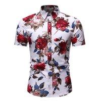 Vacation Casual Stand Collar Button Loose Shirt Apparel Comfort Tops Com Men's Shirts