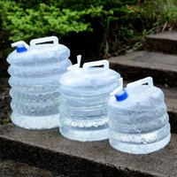 5L 10L 15L Outdoor Collapsible Water Bag Camping Foldable Containers Drinking Multifunction Telescopic Storage Bottle
