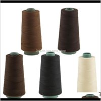 Strumenti 2 PCS Professional Sewing Tessitura Threading Set per estensioni per capelli Brown / Dark Brown Threads NHPFV PR0QJ