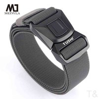 Personality fashion belts Elastic Tactical High Strength Fiber Metal Buckle Sports Adjustable Length Outdoor Accessories girdle cintos BAPY