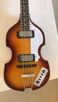 McCartney Hofner H500 / 1-CT Contemporain Violon Deluxe 4 Cordes Guitare Tobacco Sunburst Bass Électrique Flame Maple Haut 2 511b Stapéhups
