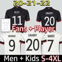 Allemagne Jersey de football 2020 2021 Version du joueur de fans Hummels Kroos Gnabry Werner Draxler Reus Reus Muller Getze Coupe européenne Temple de football Uniformes Hommes + Enfants Kit 999
