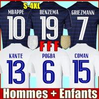 Benzema Soccer Jersey Mainoot Phoot Mailoots de Футбол Футболка Оборудование Equipe MBappe Pogba Fekir Pavard Униформа De La 2021 Griezmann Мужчины Женщины + Детские комплекты S-4XL