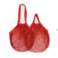 NewCotton Mesh Bag Reutilizable Compras Bolsa de comestibles Largo Mango corto Malla Algodón Vegetal y Fruta Colgando Tote CCD8007