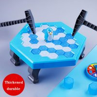Knock ice to save little penguin toy boy puzzle parent child board game