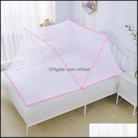 소모품 섬유 정원 아기 침구 돔 침대 캐노피 코튼 모기 그물 커튼 읽기 홈 장식 1 드롭