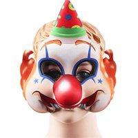 2021 Хэллоуин страшный клоун маска лица улыбается джокер лицевые маски творческие дети детские костюм косплей партии спектакль реквизит украшения головной убор G78IB3W