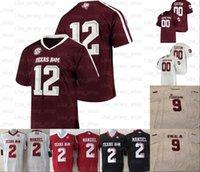 Personalizado Texas Am Aggie College Futebol Jerseys 85 Jalen Wydermyer 75 Jake Matthews 40 Von Miller 70 Cedric Ogbuehi 17 Ryan Tannehill