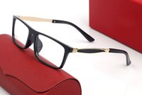 클래식 Santos 남자 여성 선글라스 스퀘어 프레임 클리어 렌즈 버팔로 뿔 광학 안경 디자인 로고 안티 슬립 피트 커버 비즈니스 캐주얼 티 콩 갈색 안경