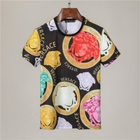 Fashion men's T-shirt high quality summer round neck short-sleeved shirt 2021 women's casual pullover floral embroidery with the same tee street hip-hop clothing ST01