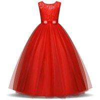 Teen Mädchen Hochzeitsfeier Blume Kleid Brautjungfer Kostüm Prinzessin Prom Kleider Tüll Stoffe Abendkleider 5 14 y 210522
