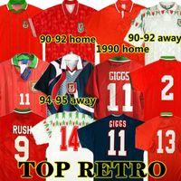 Giggs 1982 90 92 93 94 95 96 País de Gales Retro Jerseys Vintage Hughes Saungles Rush Boden Velocidade Camisa de Futebol Clássico