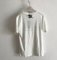 Vêtements pour hommes et femmesNouveaux de printemps et d'été lettres imprimés coton g de t-shirt en vrac Col rond Taille à manches courtes S-XL