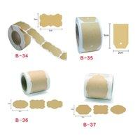 Envoltura de regalo 1 rollo 300 unids en blanco Pegatinas de adhesivo de papel de kraft natural para hornear Paquete de boda Paquete de boda Etiquetas de sellado Etiqueta de papelería