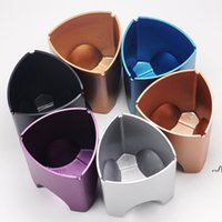 3 in 1 Triangular aluminum alloy metal ashtray Office desk decorations Stationery organizer bucket for offices Internet cafe bar DWD7648