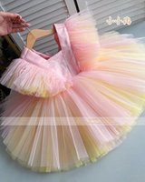 Girl's Dresses Baby Girl Tulle Flower Dress Party Gown Bridesmaid Kids Christmas Pography Props AG0530