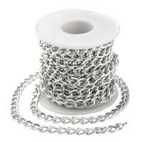 Cadenas de acera torcida de aluminio Plata de oro para collares Pulseras Joyas haciendo 5m / rollo 1417 Q2
