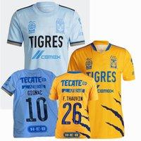 Liga MX 2021 2022 Tigres Jerseys de futebol Gignac Thauvin Uanl Home 22 22 Homens de Futebol e Crianças Camiseta 3xl
