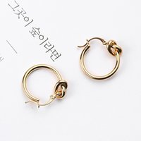New Fashion Trendy Simple Design Women Earrings Hoop Huggie Yellow Gold Plated Personality Style Earings for Girls Women Nice Gift ZHL2793