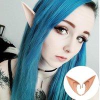 Parti Dekorasyon 1 Pair Gizemli Angel Elf Kulakları Peri Cosplay Aksesuarları Cadılar Bayramı Süslemeleri Lateks Yumuşak Sivri İpuçları Yanlış Sahne