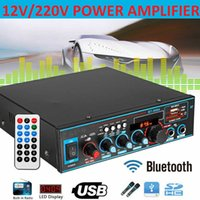12 220V 800W Car Amplificador HIFI 2 CH Audio Power Amplifier Home Theater Amplifier Audio Support FM USB SD With Remote Control
