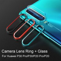 Tempered Glass + Metal Protection Ring For Huawei P30 P20 Honor 20 20i Nova 5 5i Pro 4 Back Camera Lens Film Screen Protector Cell Phone Pro