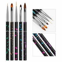 Nail Art Kits 5PCS SET Brush Tools Set Acrylic UV Gel Builder Painting Drawing Brushes Polish 3D Pen Tip