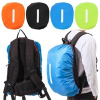 Outdoor Bags Reflective Waterproof Backpack Rain Cover Sport Night Cycling Safety Light Dustproof Case Bag Camping Hiking