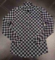 رجل مصمم قمصان ماركة الملابس الرجال كم طويل اللباس قميص الهيب هوب نمط جودة عالية القطن 2021New وصول 131