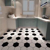 Wallpapers Peel And Stick Kitchen Cupboard Oil-proof Self Adhesive Stickers Bathroom Floor Tiles Waterproof Wallpaper Home Furnishing