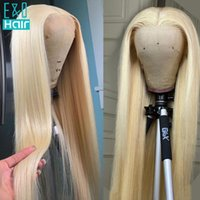 Lace Wigs Glueless 613 Blonde Front Remy Brazilian Straight Hair 13x4 Human Pre Plucked With Baby 150%