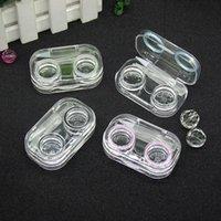 콘택트 렌즈 상자 케이스 컬러 더블 박스 아이웨어 액세서리 용 100pcs 투명 용기