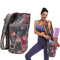 Sacs de plein air Sac de mateau de yoga Sac Casual Fashion Sac à dos avec poche à fermeture à glissière de grande taille Fit Tote Sling Carrier