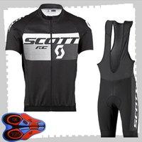 Scott 팀 사이클링 짧은 소매 유니폼 (BIB) 반바지 세트 망 SUNGER BUTHER BUTICITS MTB 자전거 복장 스포츠 유니폼 Y210414127