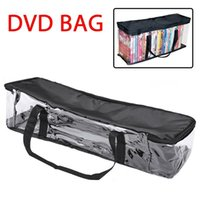 Storage Bags Large Clear Holds DVD CD Holder Easy Zip Closure Carry Bag Organizer