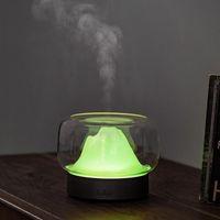 Humidifiers Mini Mountain Desktop Aroma Oil Diffuser 400ML Ultrasonic Air Humidifier Household Colorful Night Light Bedroom Keeping Moisture