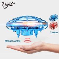 Cuidifi Mini Drone UFO Kızılötesi Algılama Kontrolü El Uçan Klima Quadcopter Indüksiyon Akıllı RC Çocuk Oyuncak Drones