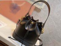 Luxury Designers Bags Bucket Bag Luxurys Crossbody Tory White Brown Bucketbag Fashion Lady Shoulder Handbag xwl HO7E