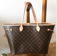 Mulheres designer bolsa bolsa de ombro sacos de compras totes clássico bolsa marrom data código serial número verificador tote grade flor