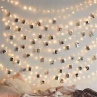 Cordes Décor de Noël 1M / 2m / 5m / 10m Pic Clip Fairy LED String Light Guirlande à piles USB pour la chambre extérieure